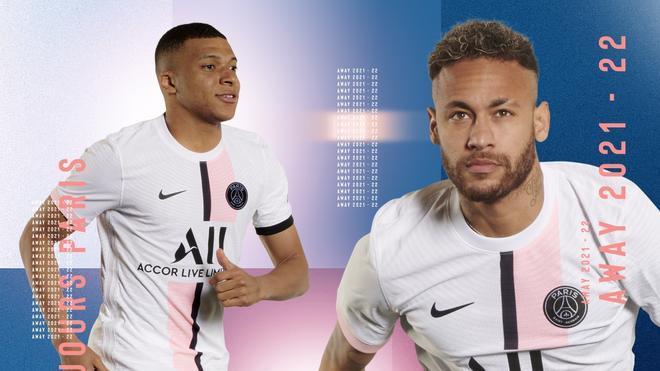 Neymar y Mbappé, en la presentación de la nueva camiseta del PSG