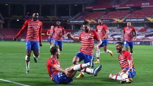 Tras vencer al Molde por dos goles, el Granada ya tiene un pie dentro de la próxima instancia de la Europa League