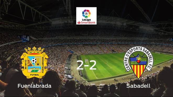 El CF Fuenlabrada y el Sabadell empatan en el Estadio Fernando Torres (2-2)