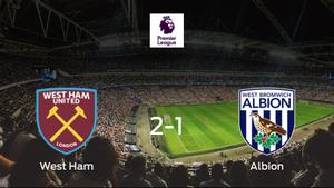 El West Ham gana 2-1 en casa al West Bromwich Albion