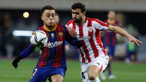 Balenziaga y Dest, durante la final de la Supercopa de España