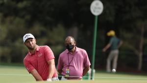 Jon Rahm, en un approach durante la última vuelta del torneo