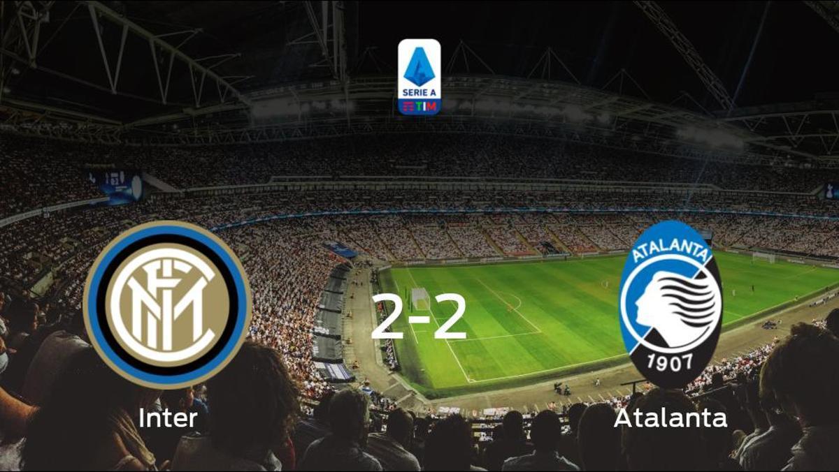 El Inter y el Atalanta reparten los puntos tras empatar a dos