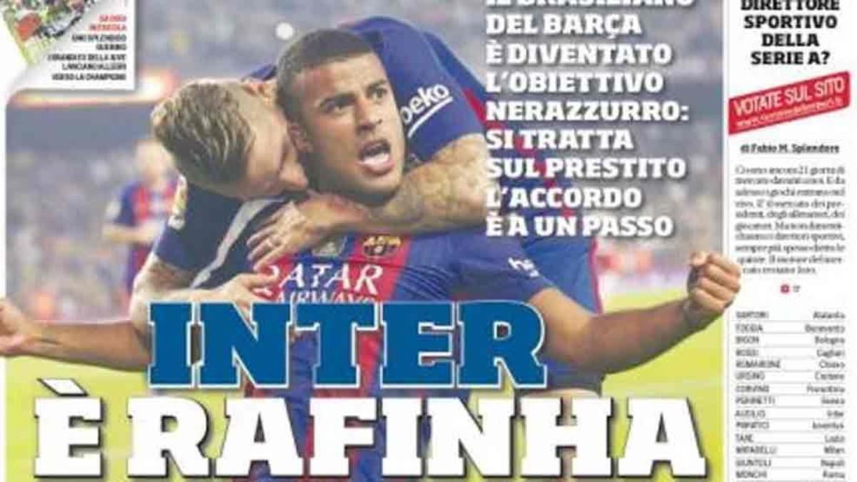 En Italia colocan a Rafinha en el Inter de Milán