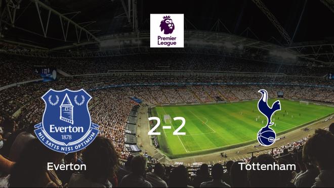 El Evertony el Tottenham Hotspurse reparten los puntos y empatan 2-2