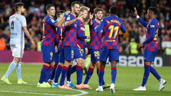 Imagen del Barça-Celta