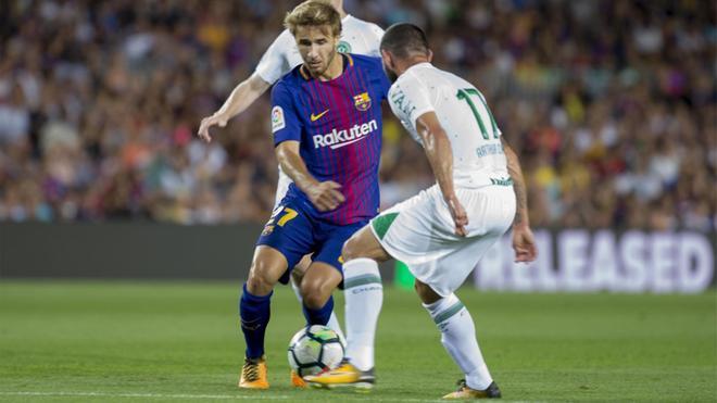 Sergi Samper, centrocampista del FC Barcelona, cedido a la UD Las Palmas