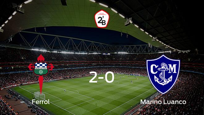 El Racing Ferrol se lleva tres puntos tras derrotar 2-0 al Marino Luanco