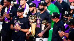 ¡Eufóricos! Así han celebrado los Lakers el título de campeones de la NBA