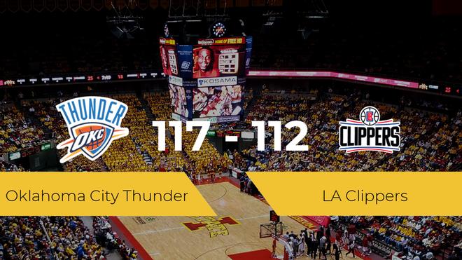 Oklahoma City Thunder derrota a LA Clippers por 117-112