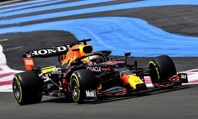 Max Verstappen, el más rápido en los Libres 3 de Francia