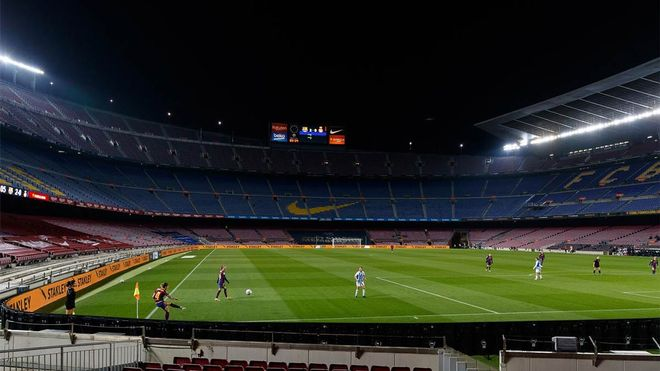 Imagen del Camp Nou esta temporada