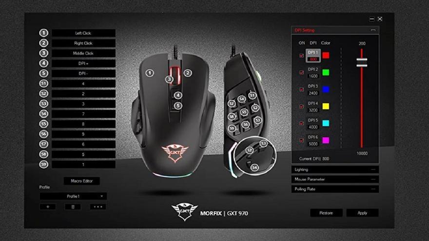 Analizamos el ratón Trust Gaming GXT 970 Morfix