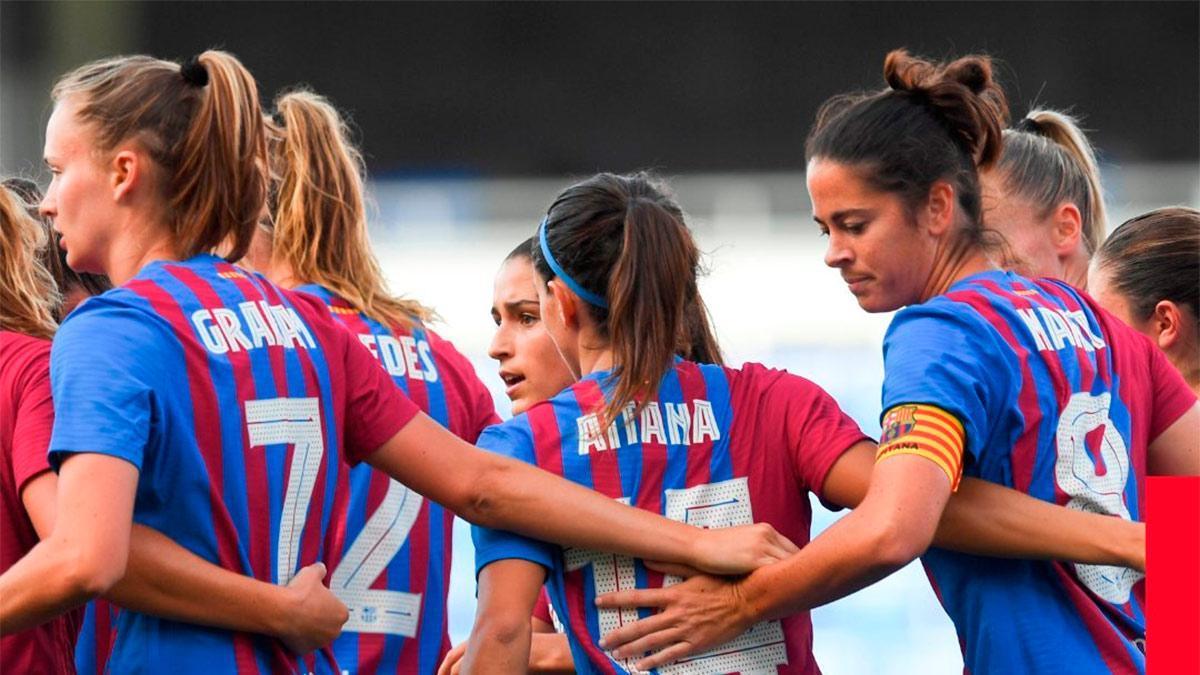 Aitana marcó el primer gol blaugrana