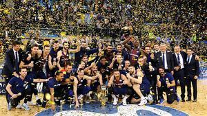 El Barça levantó la Copa del Rey de basket tras derrotar al Madrid en la final