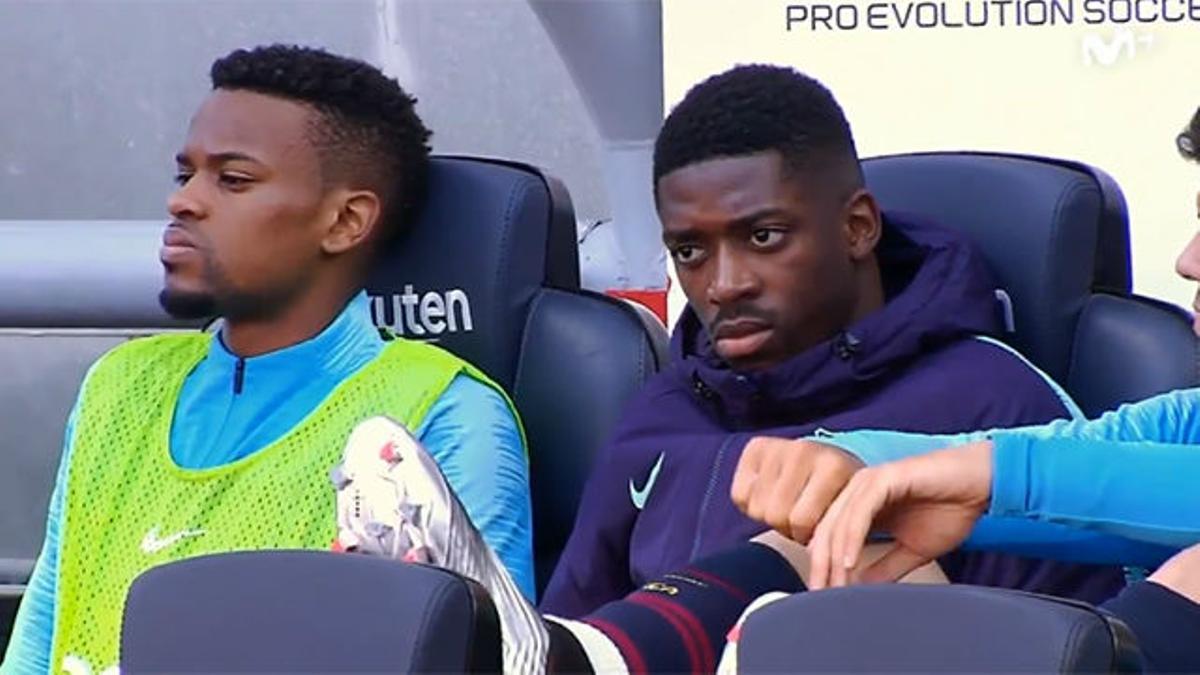 ¿Qué hacía Dembélé en el banquillo si no estaba convocado?