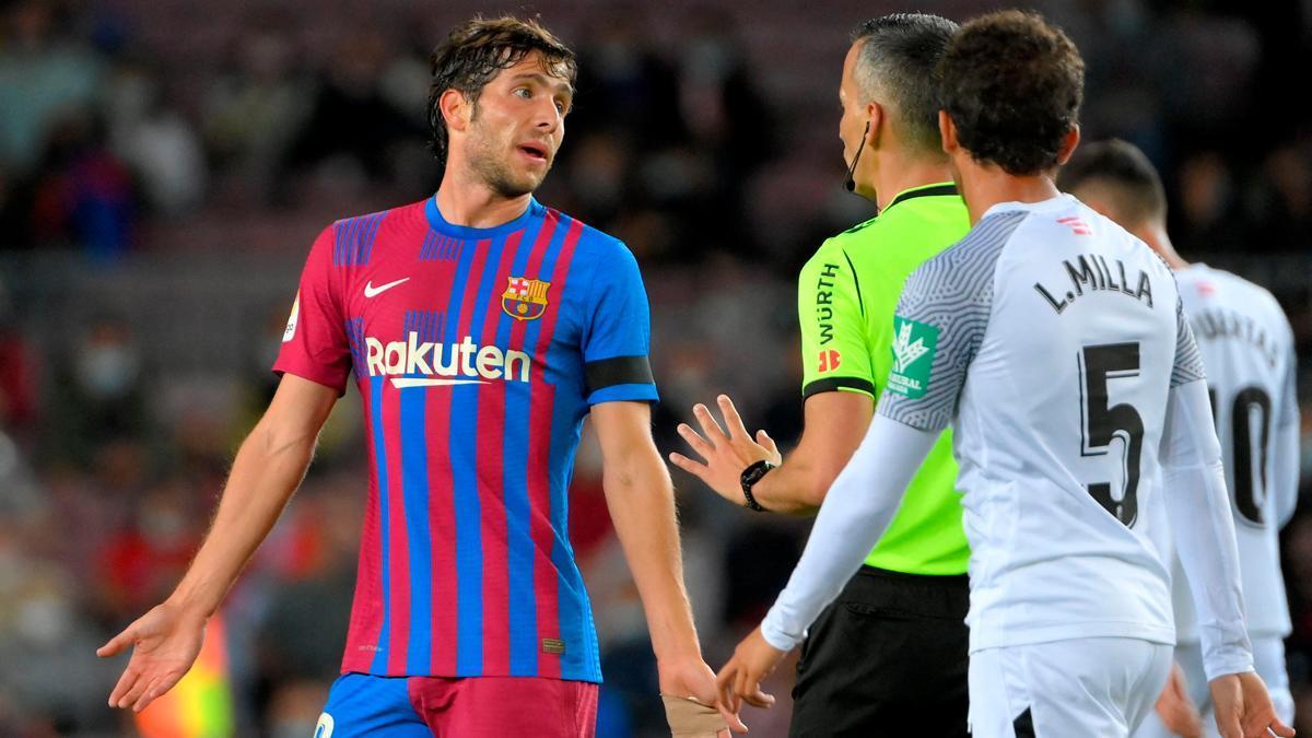 Sergi Roberto, durante el partido ante el Granada
