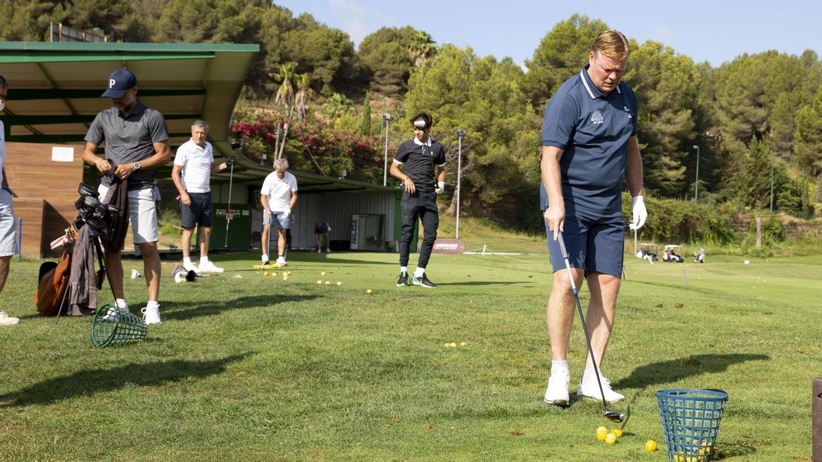 Koeman, Riqui Puig i Guardiola, juntos en la Koeman Cup de golf