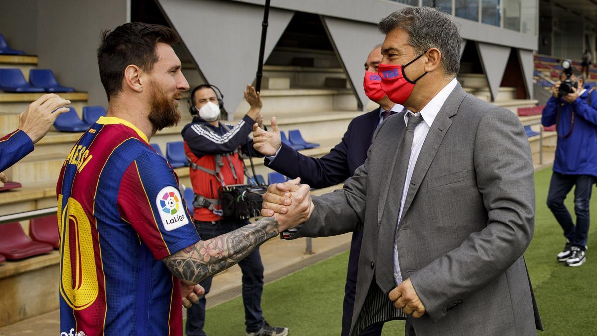 Laporta sobre futuro de Leo Messi: Seguimos trabajando