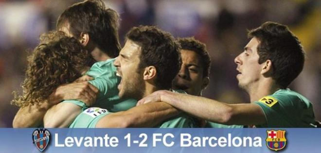 El Barça logró un triunfo épico en su visita al Levante