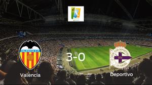 El Valencia Femenino consigue los tres puntos en casa tras pasar por encima del Deportivo Abanca (3-0)