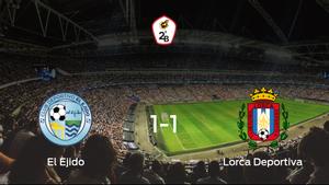 El Ejidoy el Lorca Deportivase reparten los puntos y empatan 1-1