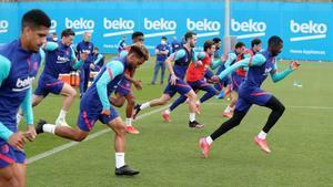 Así ha sido el entrenamiento del Barça antes el choque en Mestalla
