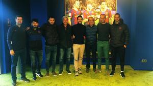 Isaac Guerrero, el primero a la izquierda, junto al resto del Departamento de Metodología liderado por Paco Seirul·lo y Pere Gratacós