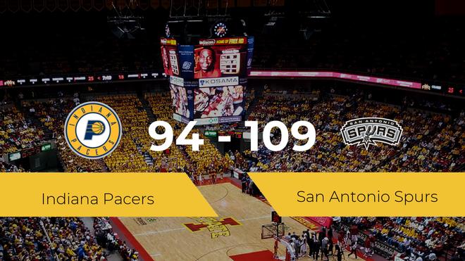 San Antonio Spurs consigue la victoria frente a Indiana Pacers por 94-109