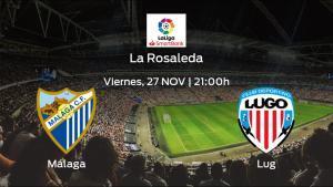 Jornada 15 de la Segunda División: previa del duelo Málaga - Lugo