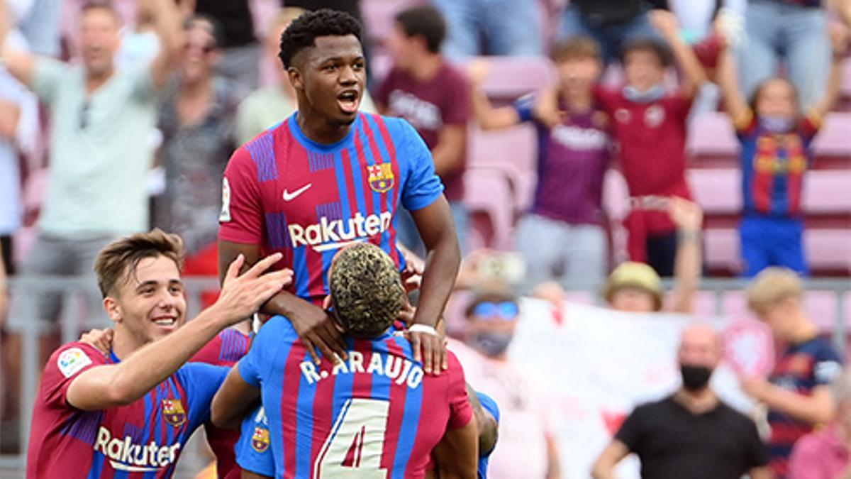 Ansu Fati tras jugar y marcar contra el Levante: Estoy muy feliz de poder volver a hacer lo que más me gusta