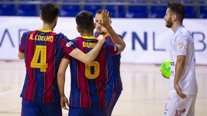 El Barça ganó el martes por 5-2 al UMA Antequera