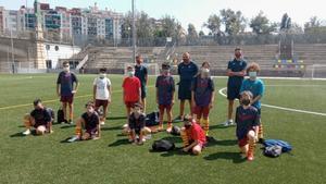 Los alevines de la PB Cinc Copes disputaron su primer partido amistoso contra el UB Catalonia