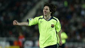 El primer gol de Messi a domicilio fue en Son Moix