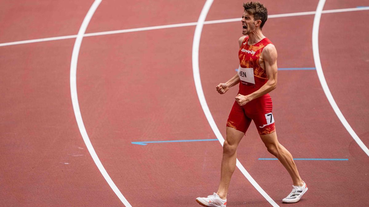 Adrián Ben terminó quinto en la final de 800 metros