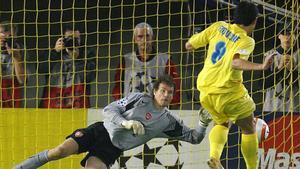 Riquelme no pudo superar a Lehmann