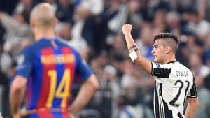 Dybala fue una pesadilla para la defensa del Barça