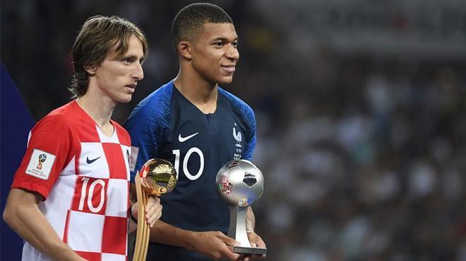 Luka Modric y Kylian Mbappé fueron los protagonistas del último Mundial