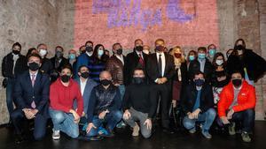 El equipo de Joan Laporta junto a los integrantes de su candidatura en las elecciones a la presidencia del Barça