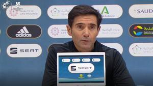 Marcelino: Sería maravilloso ganar este título derrotando a Madrid y Barça