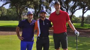 Pau Gasol disfruta del golf junto a Adri Arnaus y Luis Figo, en Valderrama