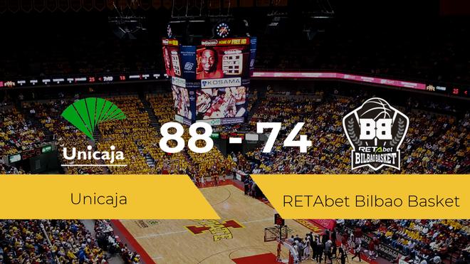 El Unicaja se queda con la victoria frente al RETAbet Bilbao Basket por 88-74