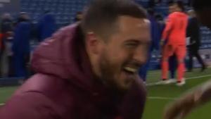 ¡TREMENDO! El momento exacto en el que Hazard SE PARTÍA DE RISA después de que el Madrid cayera eliminado