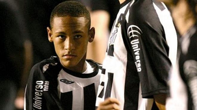 Neymar Jr., el día de su debut profesional con el Santos