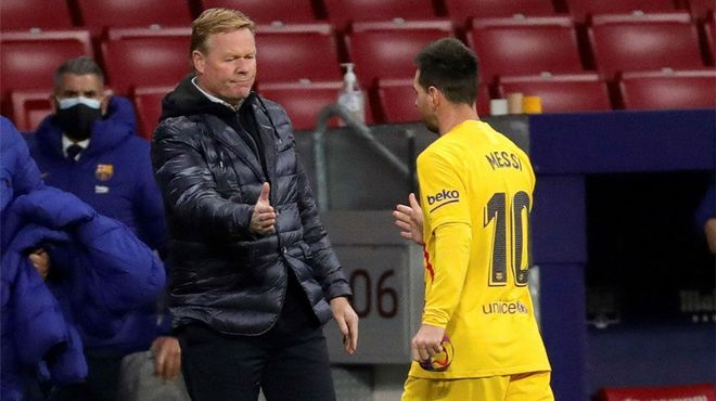 Koeman defiende a Messi: Él no ha fallado en defensa