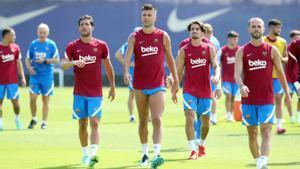El Barça cierra la semana de entrenamientos con Coutinho con el grupo