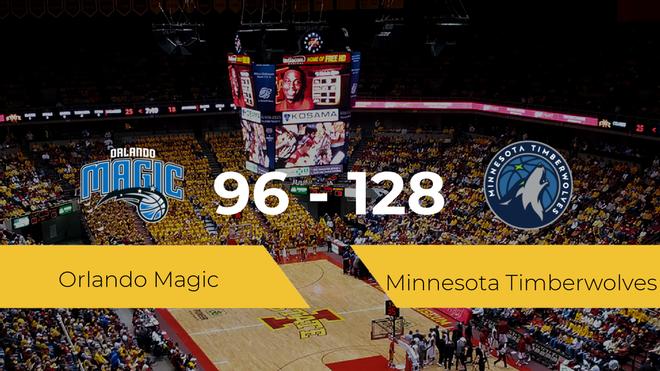 Minnesota Timberwolves logra derrotar a Orlando Magic (96-128)