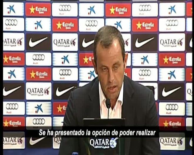 Sandro Rosell comunicó que Tito Vilanova no podrá seguir en el banquillo del Barça