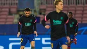 Entrenamiento previo al Barça-PSG