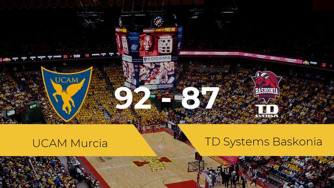 El UCAM Murcia se lleva la victoria frente al TD Systems Baskonia por 92-87